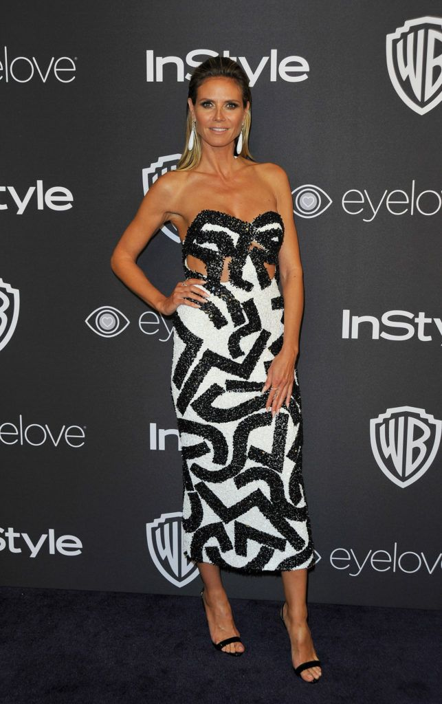 Actress Heidi Klum attends the 2017 InStyle And Warner Bros. 74th Annual Golden Globe after party in Beverly Hills, California, on January 8, 2017.       (Photo LILLY LAWRENCE/AFP/Getty Images)
