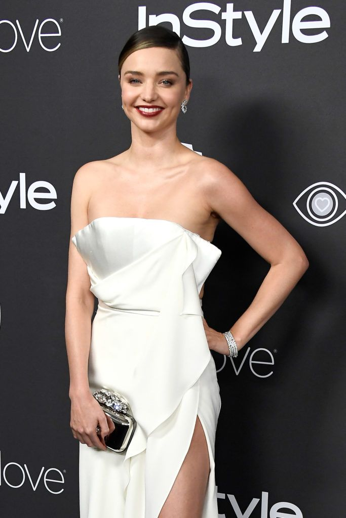 BEVERLY HILLS, CA - JANUARY 08:  Model Miranda Kerr attends the 18th Annual Post-Golden Globes Party hosted by Warner Bros. Pictures and InStyle at The Beverly Hilton Hotel on January 8, 2017 in Beverly Hills, California.  (Photo by Frazer Harrison/Getty Images)