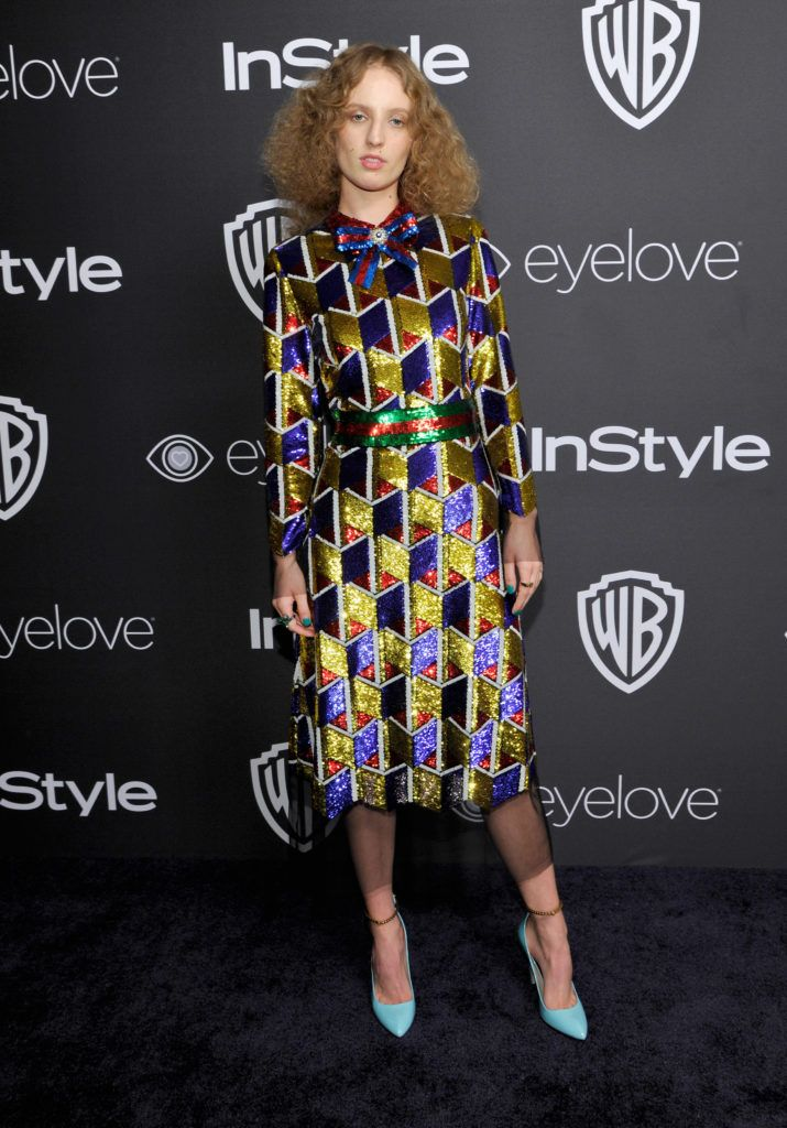 BEVERLY HILLS, CA - JANUARY 08:  Actress Petra Collins attends The 2017 InStyle and Warner Bros. 73rd Annual Golden Globe Awards Post-Party at The Beverly Hilton Hotel on January 8, 2017 in Beverly Hills, California.  (Photo by John Sciulli/Getty Images for InStyle)