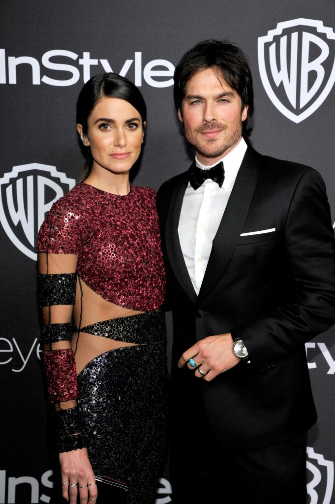 BEVERLY HILLS, CA - JANUARY 08:  Actors Nikki Reed (L) and Ian Somerhalder attend The 2017 InStyle and Warner Bros. 73rd Annual Golden Globe Awards Post-Party at The Beverly Hilton Hotel on January 8, 2017 in Beverly Hills, California.  (Photo by John Sciulli/Getty Images for InStyle)
