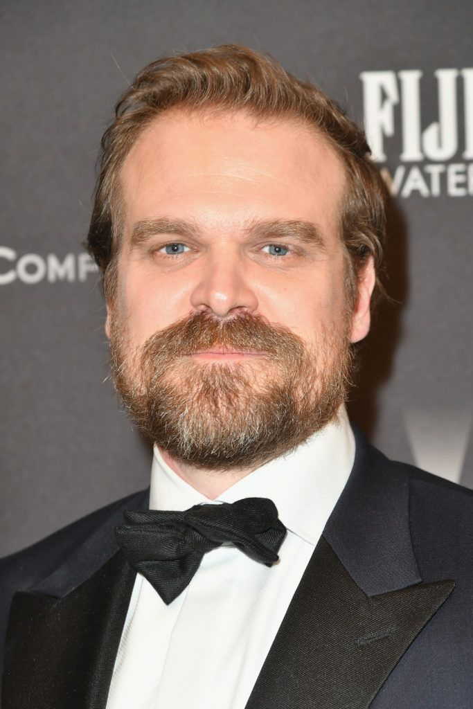 BEVERLY HILLS, CA - JANUARY 08:  Actor David Harbour attends The Weinstein Company and Netflix Golden Globe Party, presented with FIJI Water, Grey Goose Vodka, Lindt Chocolate, and Moroccanoil at The Beverly Hilton Hotel on January 8, 2017 in Beverly Hills, California.  (Photo by Earl Gibson III/Getty Images)