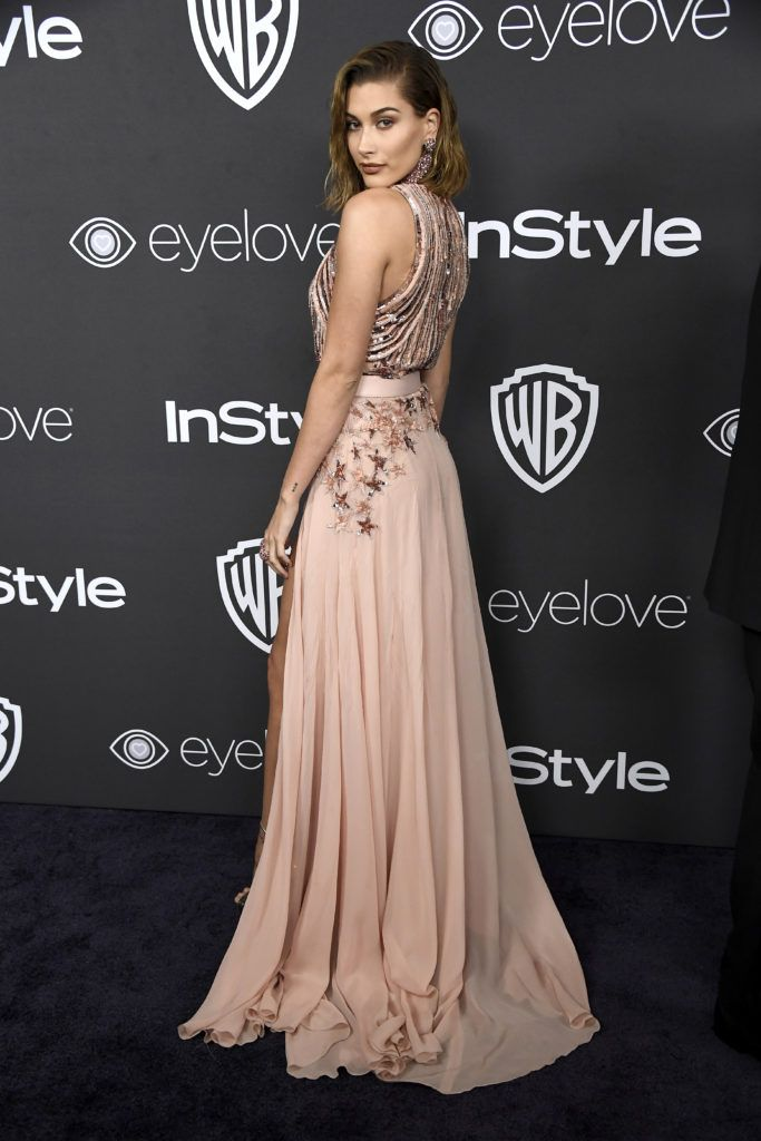 BEVERLY HILLS, CA - JANUARY 08:  Model Hailey Baldwin attends the 18th Annual Post-Golden Globes Party hosted by Warner Bros. Pictures and InStyle at The Beverly Hilton Hotel on January 8, 2017 in Beverly Hills, California.  (Photo by Frazer Harrison/Getty Images)