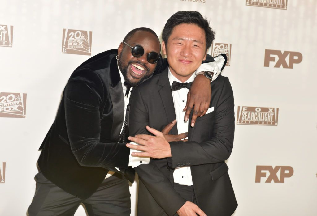 BEVERLY HILLS, CA - JANUARY 08:  Actor Brian Tyree Henry (L) and director Hiro Murai attend FOX and FX's 2017 Golden Globe Awards after party at The Beverly Hilton Hotel on January 8, 2017 in Beverly Hills, California.  (Photo by Rodin Eckenroth/Getty Images)