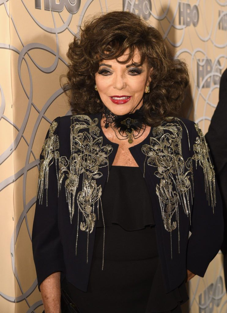 BEVERLY HILLS, CA - JANUARY 08: Actress Joan Collins attends HBO's Official Golden Globe Awards After Party at Circa 55 Restaurant on January 8, 2017 in Beverly Hills, California.  (Photo by Joshua Blanchard/Getty Images)