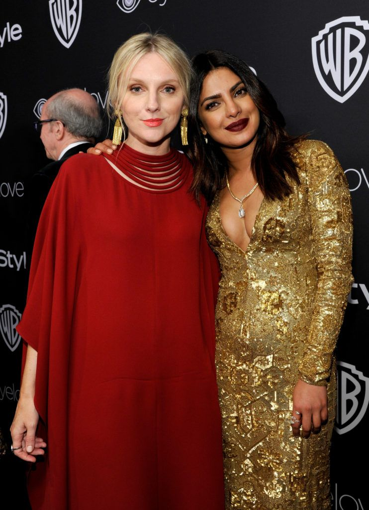 BEVERLY HILLS, CA - JANUARY 08:  InStyle Editor-In-Chief Laura Brown (L) and actress Priyanka Chopra attend The 2017 InStyle and Warner Bros. 73rd Annual Golden Globe Awards Post-Party at The Beverly Hilton Hotel on January 8, 2017 in Beverly Hills, California.  (Photo by John Sciulli/Getty Images for InStyle)