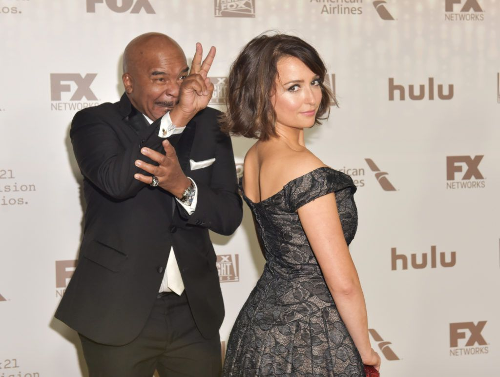BEVERLY HILLS, CA - JANUARY 08:  Actors David Alan Grier and Milana Vayntrub attend FOX and FX's 2017 Golden Globe Awards after party at The Beverly Hilton Hotel on January 8, 2017 in Beverly Hills, California.  (Photo by Rodin Eckenroth/Getty Images)