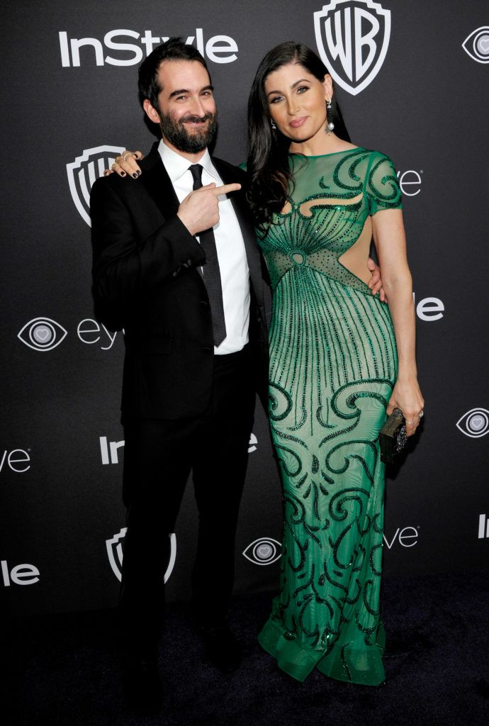 BEVERLY HILLS, CA - JANUARY 08:  Actors Jay Duplass (L) and Trace Lysette attend The 2017 InStyle and Warner Bros. 73rd Annual Golden Globe Awards Post-Party at The Beverly Hilton Hotel on January 8, 2017 in Beverly Hills, California.  (Photo by John Sciulli/Getty Images for InStyle)