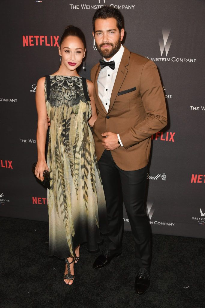 BEVERLY HILLS, CA - JANUARY 08:  Cara Santana and Jesse Metcalfe attends The Weinstein Company and Netflix Golden Globe Party, presented with FIJI Water, Grey Goose Vodka, Lindt Chocolate, and Moroccanoil at The Beverly Hilton Hotel on January 8, 2017 in Beverly Hills, California.  (Photo by Earl Gibson III/Getty Images)
