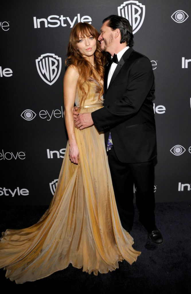 BEVERLY HILLS, CA - JANUARY 08:  Actors Francesca Eastwood (L) and Clifton Collins Jr. attend The 2017 InStyle and Warner Bros. 73rd Annual Golden Globe Awards Post-Party at The Beverly Hilton Hotel on January 8, 2017 in Beverly Hills, California.  (Photo by John Sciulli/Getty Images for InStyle)