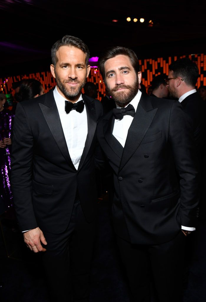 BEVERLY HILLS, CA - JANUARY 08: Actors Ryan Reynolds (L) and Jake Gyllenhaal attend The 2017 InStyle and Warner Bros. 73rd Annual Golden Globe Awards Post-Party at The Beverly Hilton Hotel on January 8, 2017 in Beverly Hills, California.  (Photo by Matt Winkelmeyer/Getty Images for InStyle)