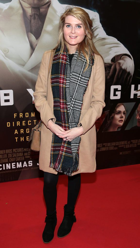 Laura Sutton at the Irish premiere screening of Ben Affleck's new film  Live by  Night at the Savoy Cinema, Dublin.  Picture:Brian McEvoy