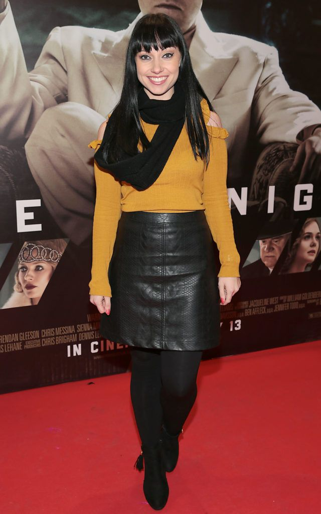 Olivia Hogan at the Irish premiere screening of Ben Affleck's new film  Live by  Night at the Savoy Cinema, Dublin.  Picture:Brian McEvoy