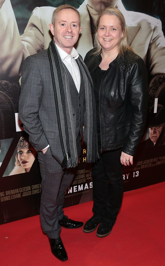 Marlis Kerins and Tony Kerins at the Irish premiere screening of Ben Affleck's new film  Live by  Night at the Savoy Cinema, Dublin.  Picture:Brian McEvoy