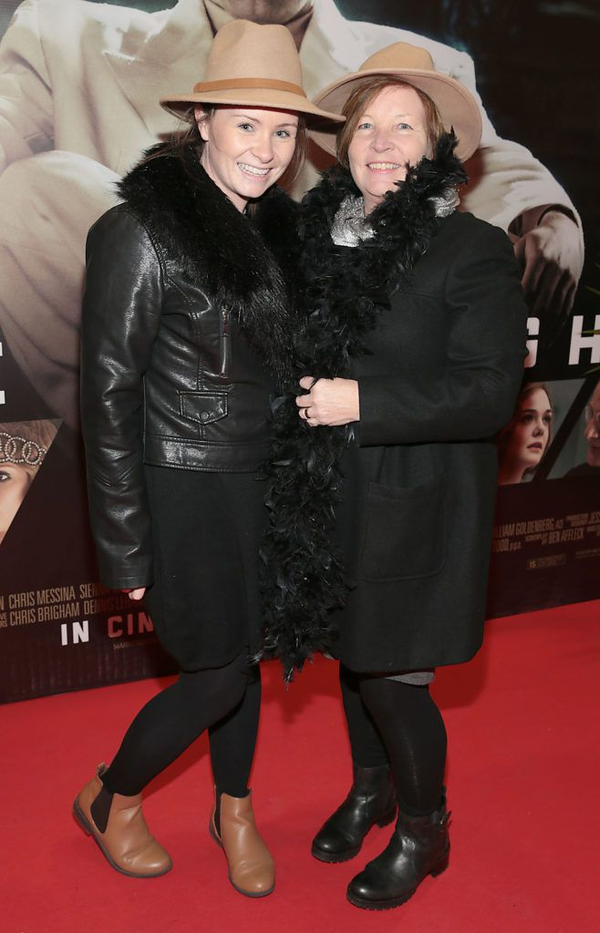 Claire O Rourke and Margaret O Rourke at the Irish premiere screening of Ben Affleck's new film  Live by  Night at the Savoy Cinema, Dublin.  Picture:Brian McEvoy