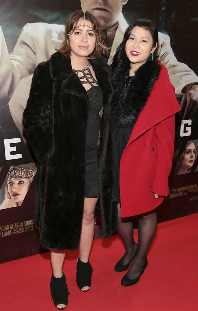 Giovana Marques and Hanna Yuri at the Irish premiere screening of Ben Affleck's new film  Live by  Night at the Savoy Cinema, Dublin.  Picture:Brian McEvoy
