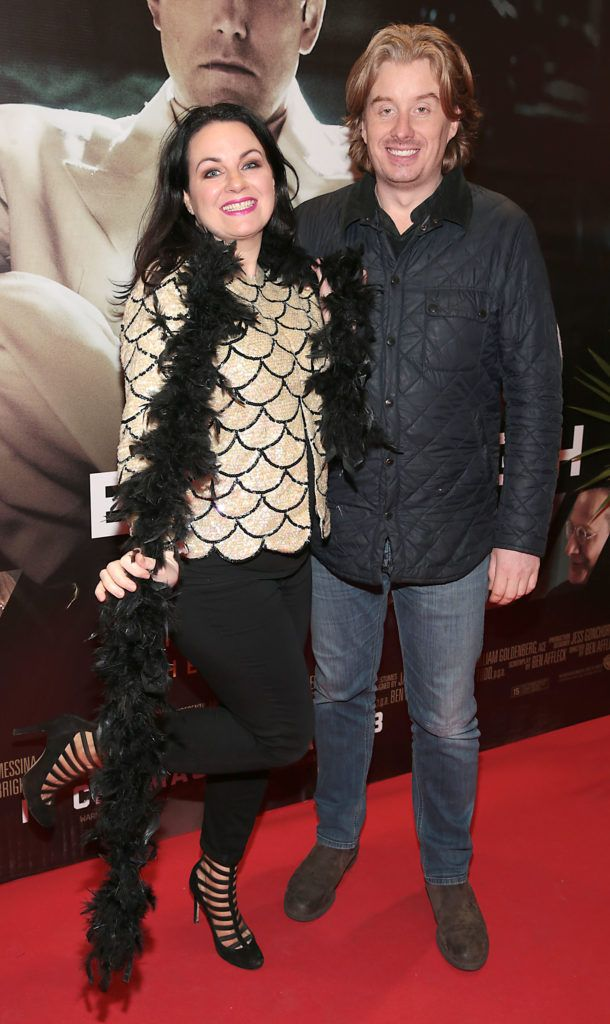 Triona McCarthy and Will White at the Irish premiere screening of Ben Affleck's new film  Live by  Night at the Savoy Cinema, Dublin.  Picture:Brian McEvoy