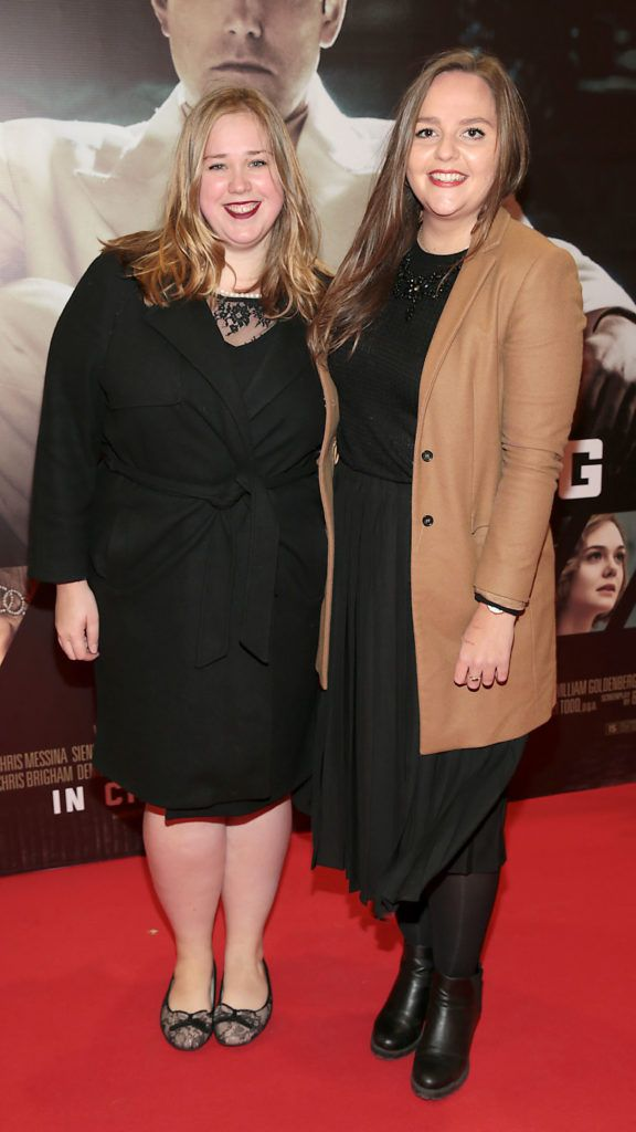 Molly Price and Sophie Agnew at the Irish premiere screening of Ben Affleck's new film  Live by  Night at the Savoy Cinema, Dublin.  Picture:Brian McEvoy