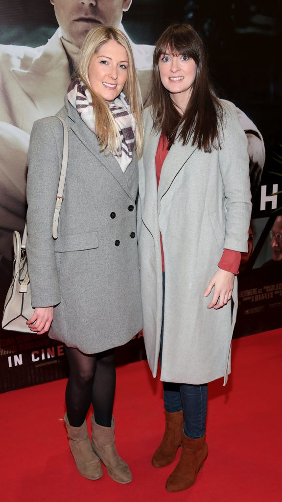 Grace Caraher and Sarah Grealis at the Irish premiere screening of Ben Affleck's new film  Live by  Night at the Savoy Cinema, Dublin.  Picture:Brian McEvoy