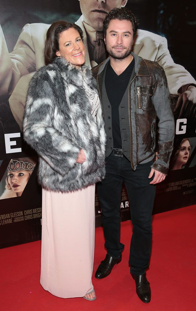 Rebecca Burrell and Kevin J Ryan at the Irish premiere screening of Ben Affleck's new film  Live by  Night at the Savoy Cinema, Dublin.  Picture:Brian McEvoy