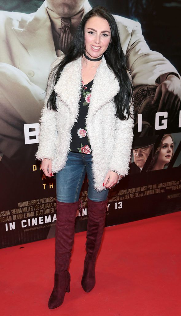 Eileen Sutton at the Irish premiere screening of Ben Affleck's new film  Live by  Night at the Savoy Cinema, Dublin.  Picture:Brian McEvoy