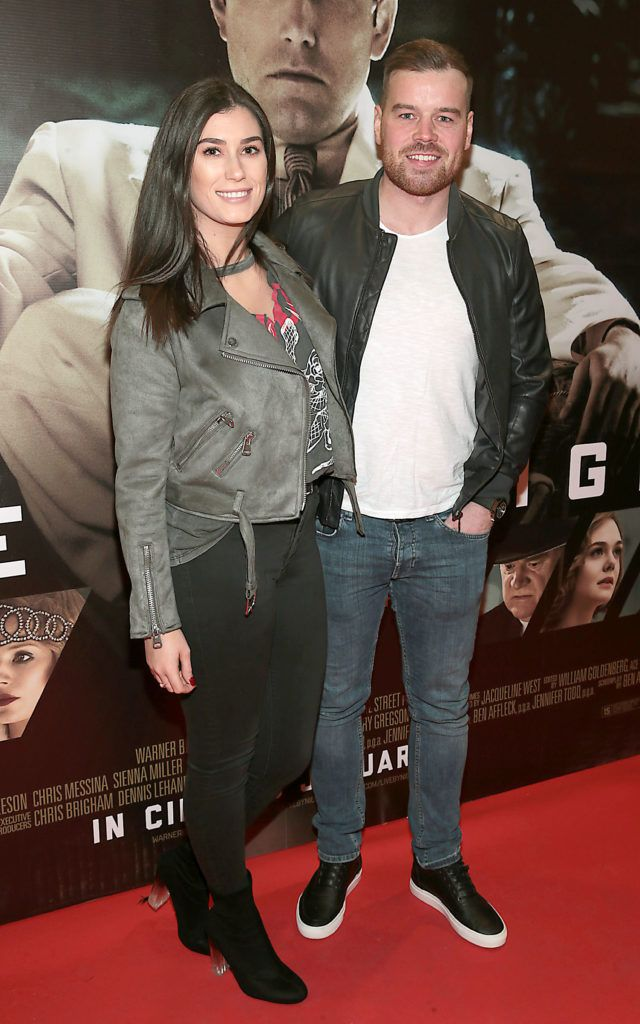 Katie Brady and Gary Clarke at the Irish premiere screening of Ben Affleck's new film  Live by  Night at the Savoy Cinema, Dublin.  Picture:Brian McEvoy