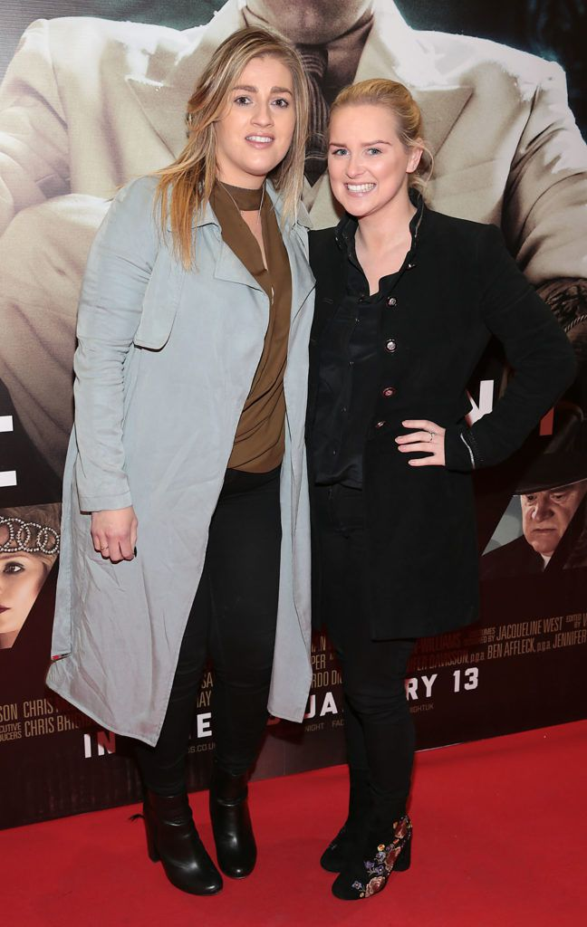 Amy Tully and Kim Murphy at the Irish premiere screening of Ben Affleck's new film  Live by  Night at the Savoy Cinema, Dublin.  Picture:Brian McEvoy