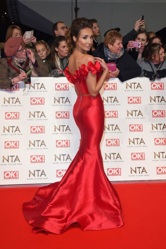 LONDON, ENGLAND - JANUARY 25:  Megan McKenna attends the National Television Awards on January 25, 2017 in London, United Kingdom.  (Photo by Anthony Harvey/Getty Images)