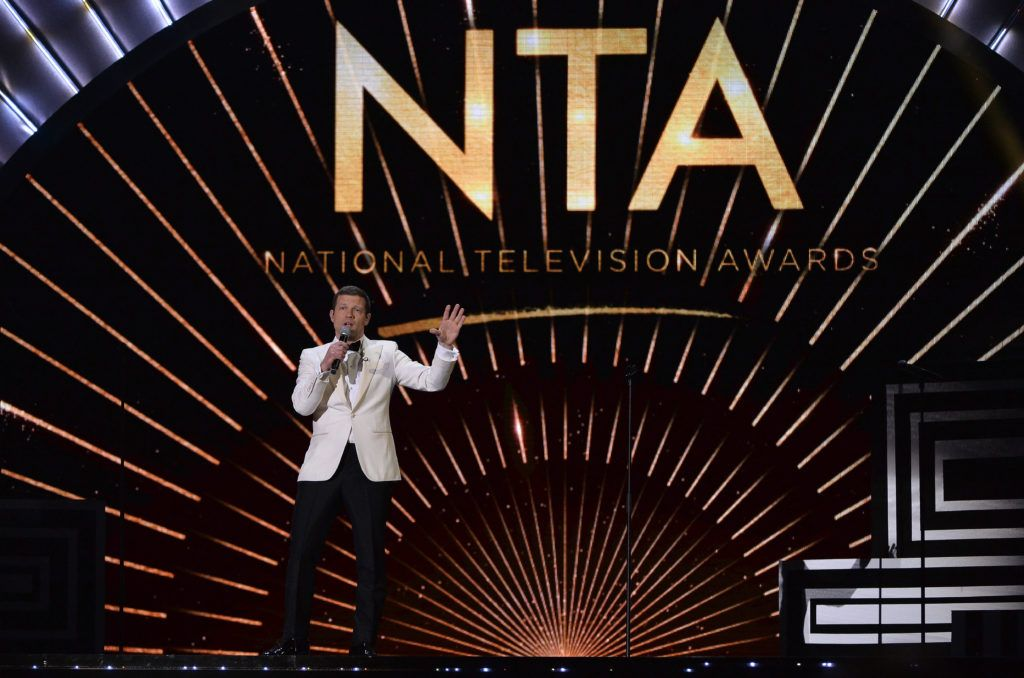 LONDON, ENGLAND - JANUARY 25:  Dermot O'Leary on stage during the National Television Awards at The O2 Arena on January 25, 2017 in London, England.  (Photo by Jeff Spicer/Getty Images)
