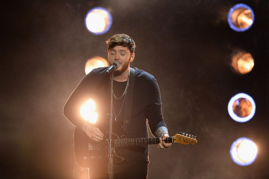 LONDON, ENGLAND - JANUARY 25:  James Arthur performs on stage during the National Television Awards at The O2 Arena on January 25, 2017 in London, England.  (Photo by Jeff Spicer/Getty Images)