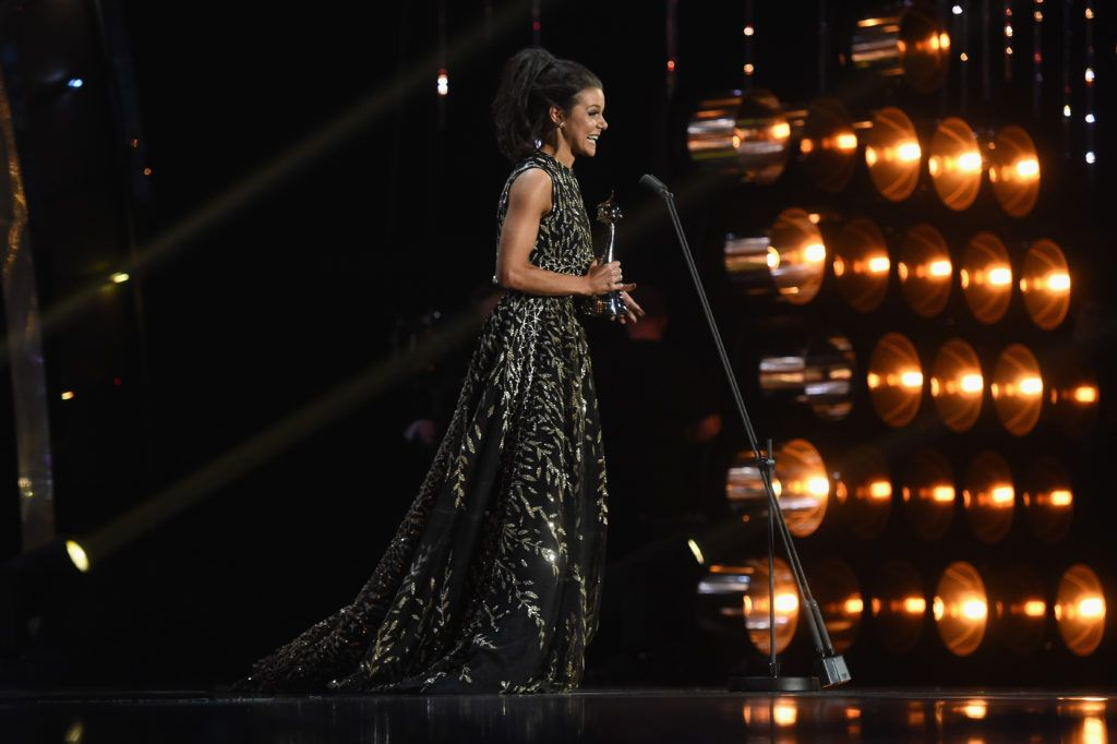 LONDON, ENGLAND - JANUARY 25:  Faye Brookes wins the Best Newcomer award during the National Television Awards at The O2 Arena on January 25, 2017 in London, England.  (Photo by Stuart C. Wilson/Getty Images)