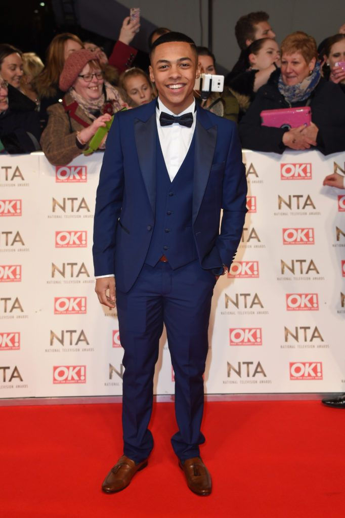 LONDON, ENGLAND - JANUARY 25: Guest attends the National Television Awards on January 25, 2017 in London, United Kingdom.  (Photo by Anthony Harvey/Getty Images)