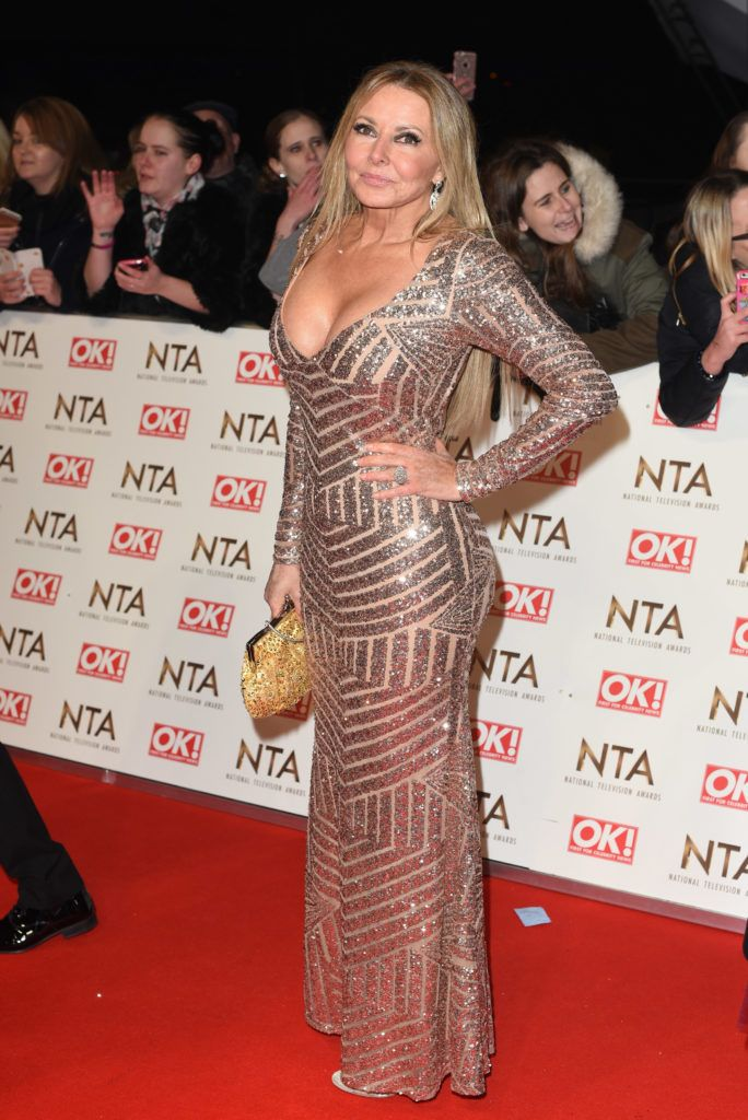 The 2017 National Television Awards held at the O2 - red carpet arrivals.  Featuring: Carol Vorderman Where: London, United Kingdom When: 25 Jan 2017 Credit: Daniel Deme/WENN.com