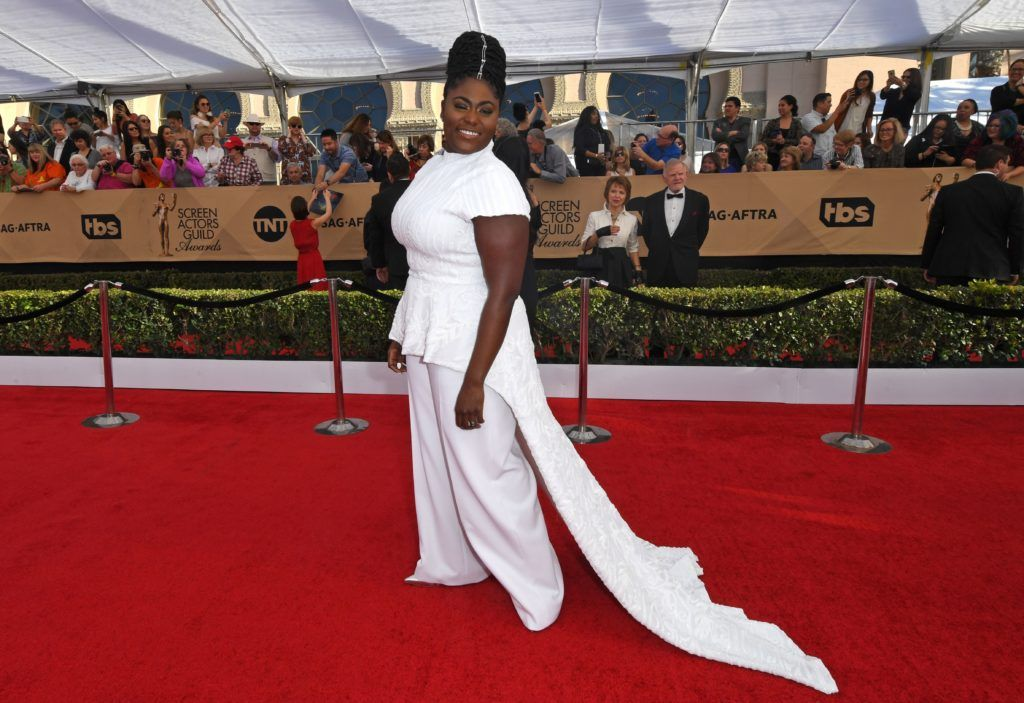Danielle Brooks arrives at the 23rd Annual Screen Actors Guild Awards at The Shrine Auditorium on January 29, 2017 in Los Angeles, California. (Photo MARK RALSTON/AFP/Getty Images)