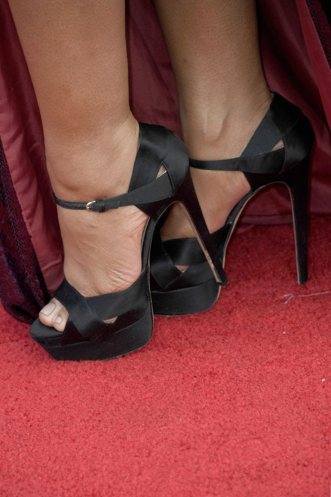 LOS ANGELES, CA - JANUARY 29:  Actor Jessica Pimentel, shoe detail, attends The 23rd Annual Screen Actors Guild Awards at The Shrine Auditorium on January 29, 2017 in Los Angeles, California. 26592_008  (Photo by Frazer Harrison/Getty Images)