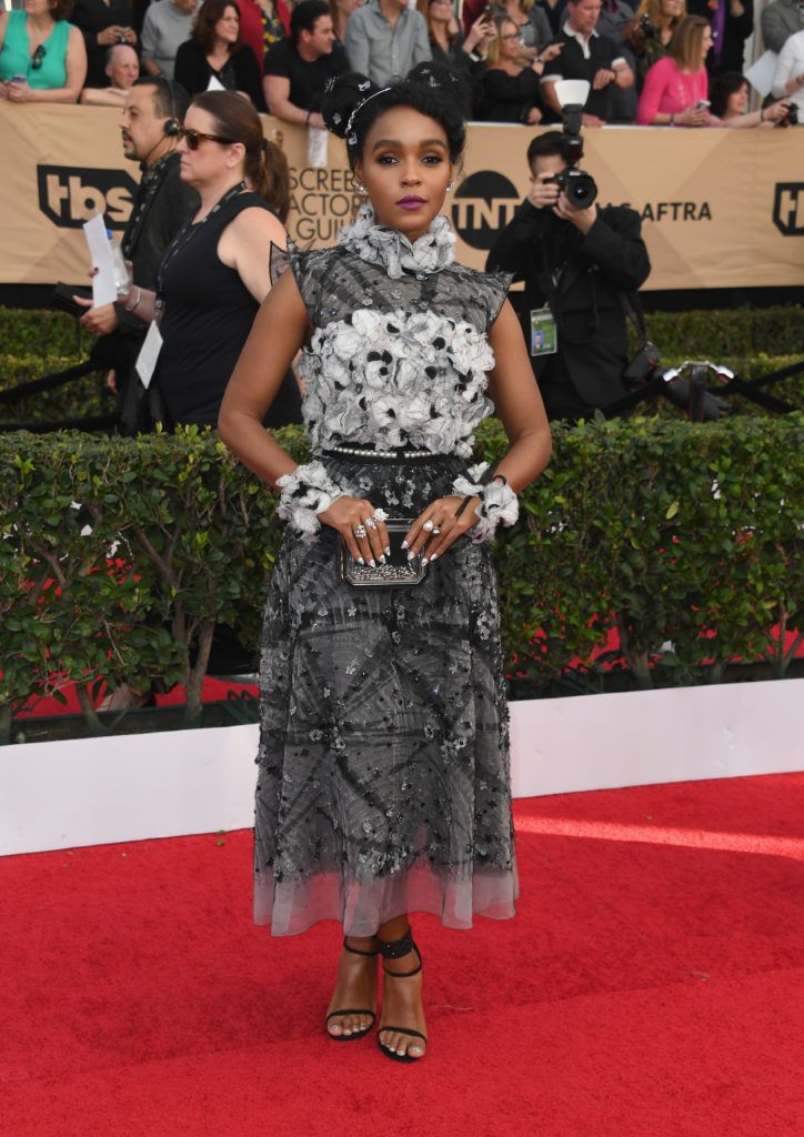 LOS ANGELES, CA - JANUARY 29:  Actor Janelle Monae attends the 23rd Annual Screen Actors Guild Awards at The Shrine Expo Hall on January 29, 2017 in Los Angeles, California.  (Photo by Alberto E. Rodriguez/Getty Images)
