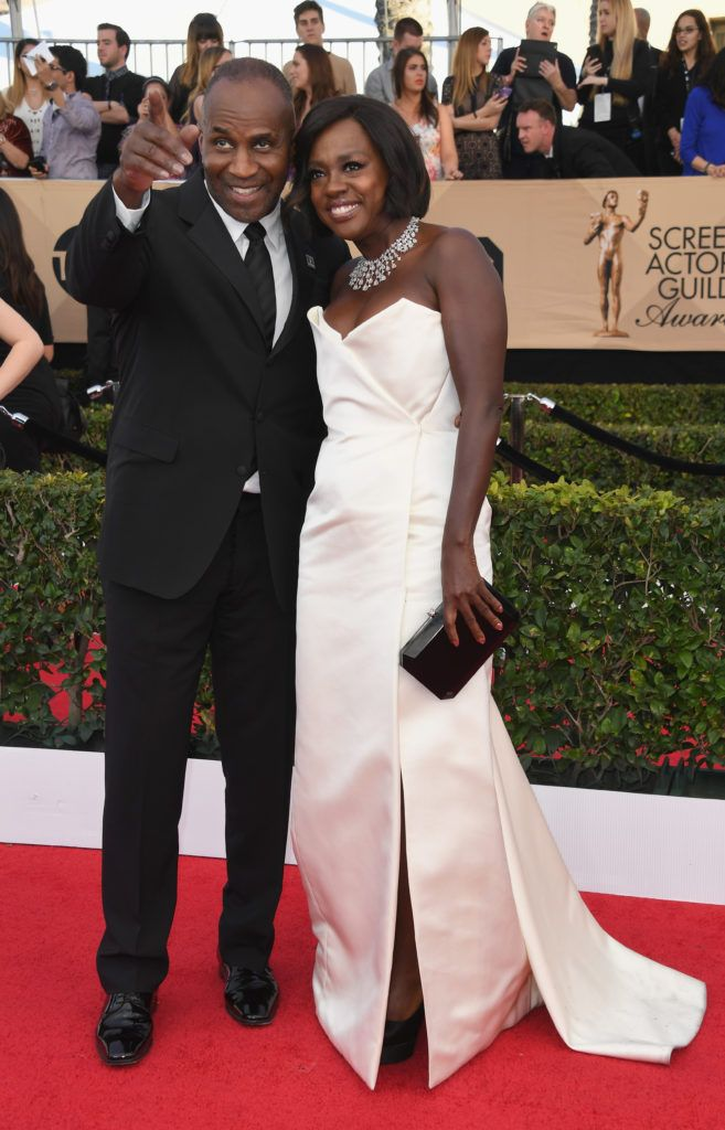 LOS ANGELES, CA - JANUARY 29:  Actors Julius Tennon and Viola Davis attend the 23rd Annual Screen Actors Guild Awards at The Shrine Expo Hall on January 29, 2017 in Los Angeles, California.  (Photo by Alberto E. Rodriguez/Getty Images)