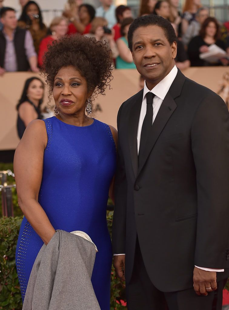 LOS ANGELES, CA - JANUARY 29:  Actors Pauletta Washington and Denzel Washington attend the 23rd Annual Screen Actors Guild Awards at The Shrine Expo Hall on January 29, 2017 in Los Angeles, California.  (Photo by Alberto E. Rodriguez/Getty Images)