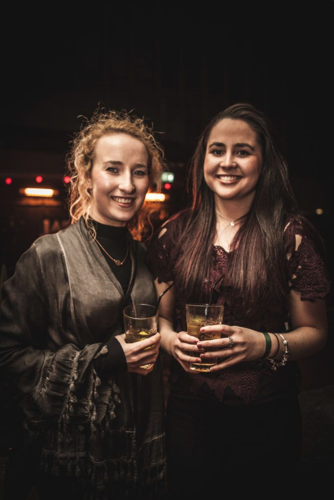 Amy Hewitt and Kate Kavanagh at the Jameson Bow St Sessions with Booka Brass, Barq and Soulé at the Sugar Club. Photos by Derek Kennedy.