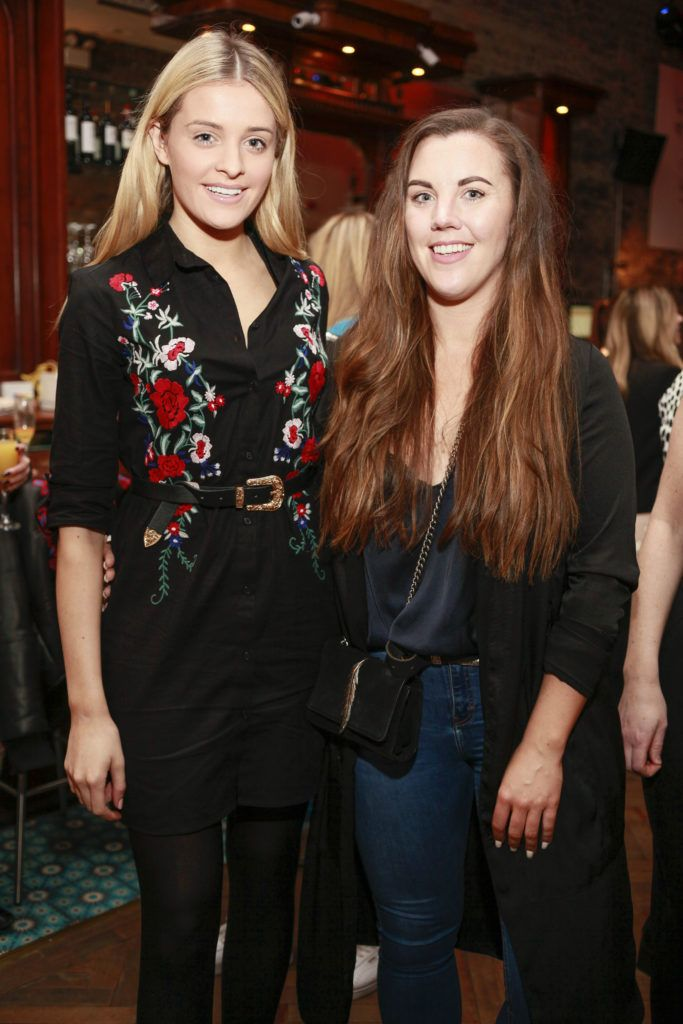 Louise Cooney and Sarah Hanrahan at the launch night of Bagots Hutton Restaurant at 6 Upper Ormond Quay, Dublin. Photo by Daragh McDonagh