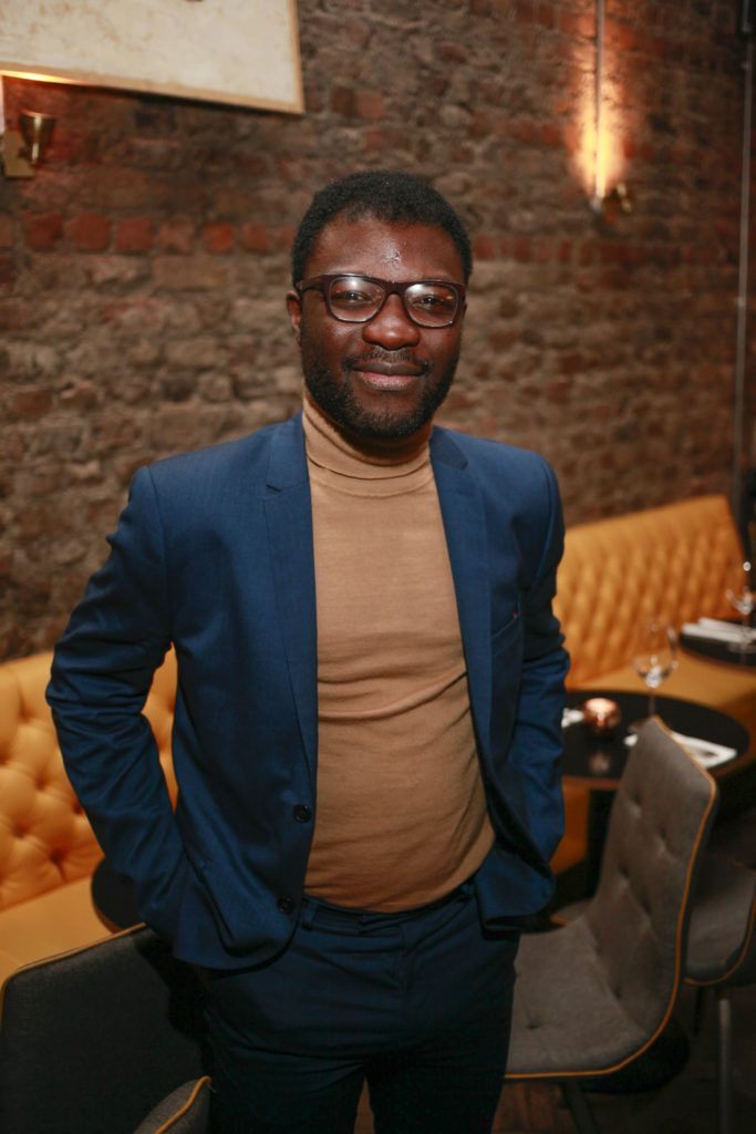 Timi Ogunyemi at the launch night of Bagots Hutton Restaurant at 6 Upper Ormond Quay, Dublin. Photo by Daragh McDonagh