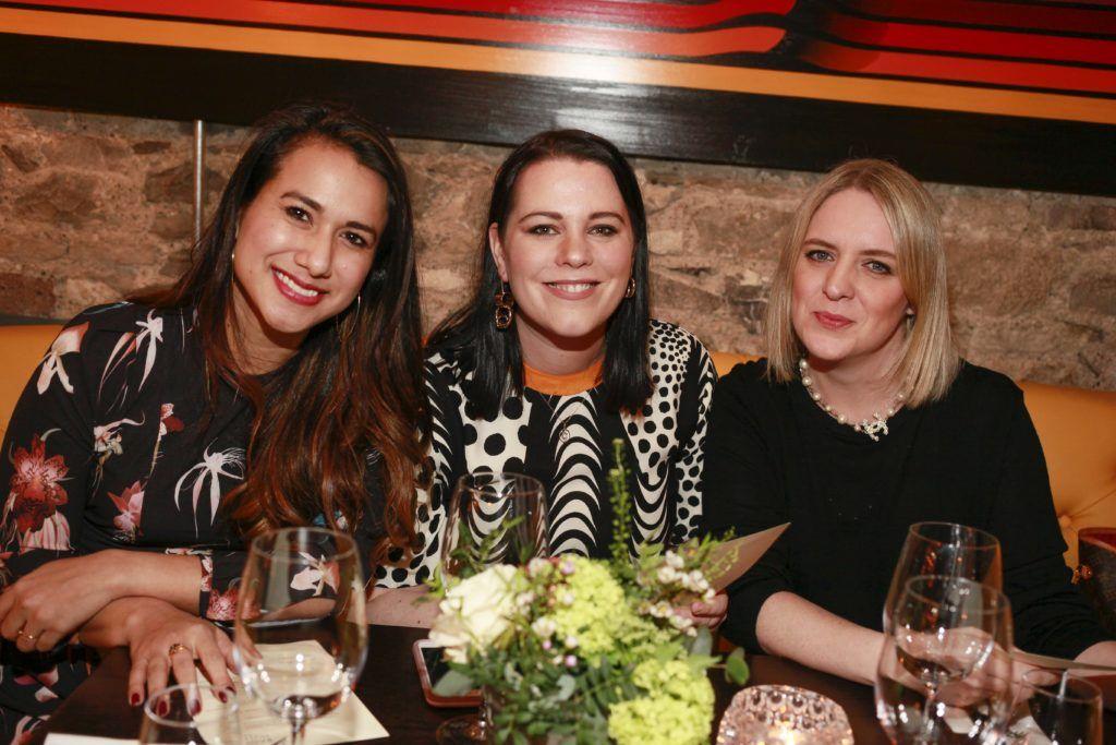 Yolanda Zan, Corina Gaffey and Jennifer Stevens at the launch night of Bagots Hutton Restaurant at 6 Upper Ormond Quay, Dublin. Photo by Daragh McDonagh