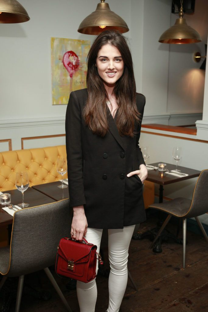 Rebecca O'Byrne at the launch night of Bagots Hutton Restaurant at 6 Upper Ormond Quay, Dublin. Photo by Daragh McDonagh