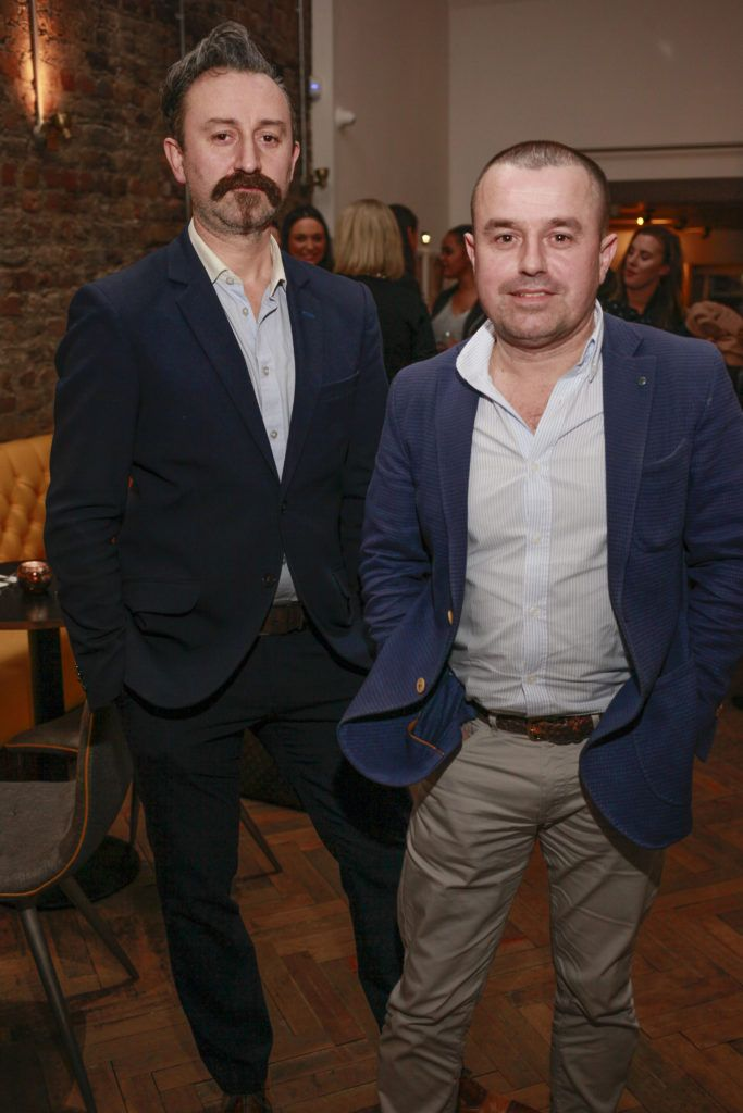 Giovanni Viscardi co-owner and Eddie Kehoe at the launch night of Bagots Hutton Restaurant at 6 Upper Ormond Quay, Dublin. Photo by Daragh McDonagh