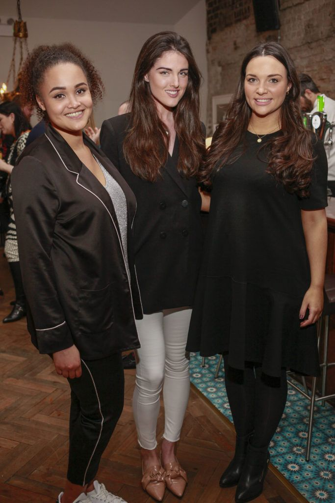 Claudia Gocoul, Rebecca O'Byrne and Caitlin Mc Bride at the launch night of Bagots Hutton Restaurant at 6 Upper Ormond Quay, Dublin. Photo by Daragh McDonagh