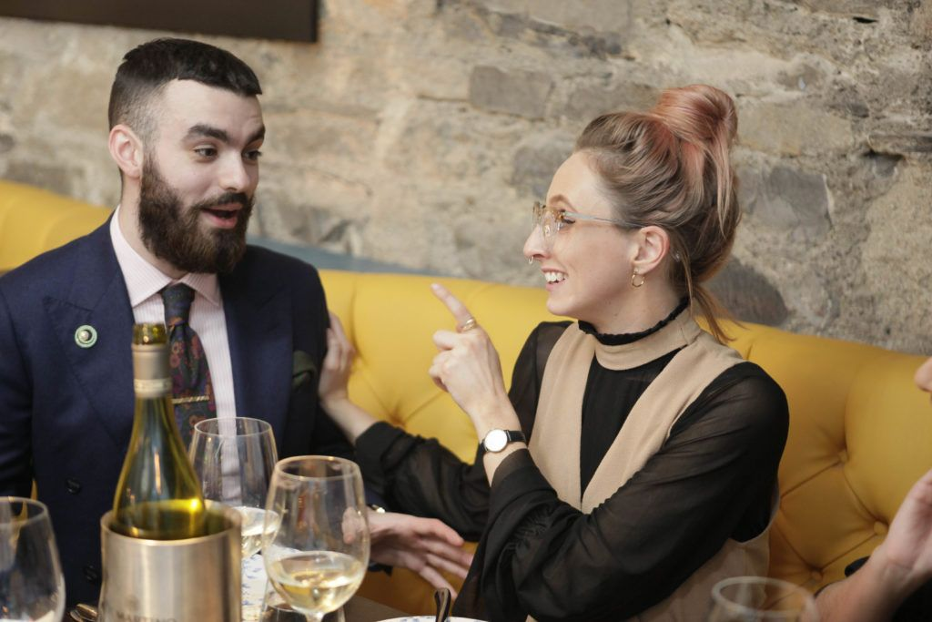 Jake Mc Cabe and Niamh O'Donoghue at the launch night of Bagots Hutton Restaurant at 6 Upper Ormond Quay, Dublin. Photo by Daragh McDonagh