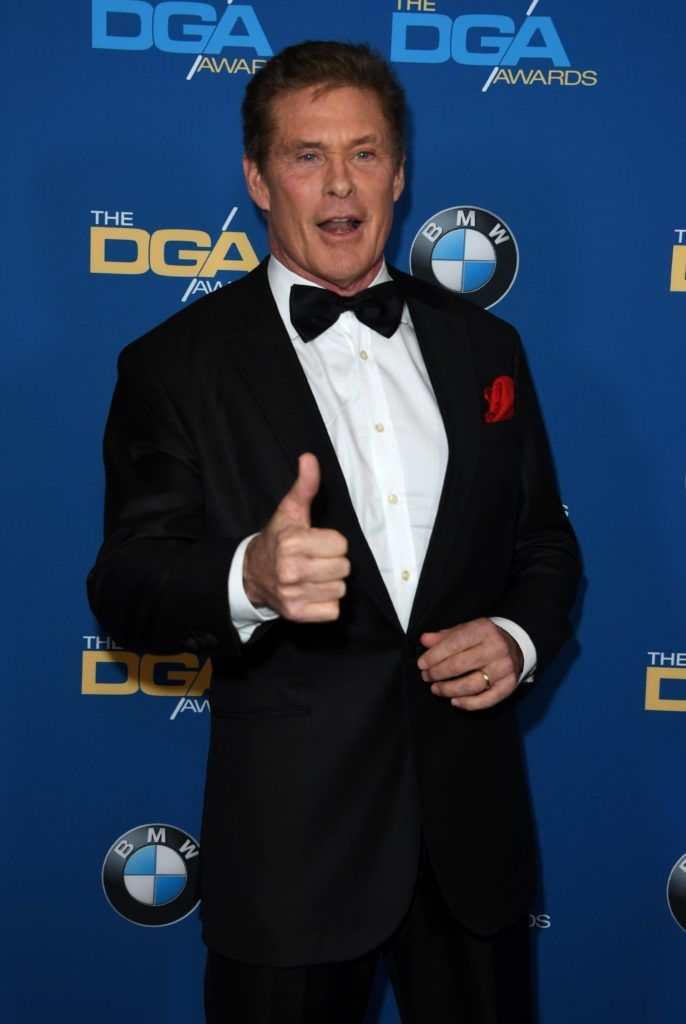 Actor David Hasselhoff arrives for the 69th Annual Directors Guild Awards (DGA), February 4, 2017 in Beverly Hills, California. (Photo MARK RALSTON/AFP/Getty Images)
