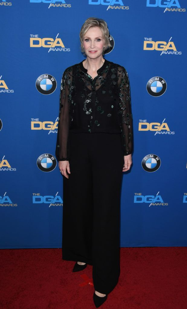 Actress Jane Lynch arrives for the 69th Annual Directors Guild Awards (DGA), February 4, 2017 in Beverly Hills, California. (Photo MARK RALSTON/AFP/Getty Images)