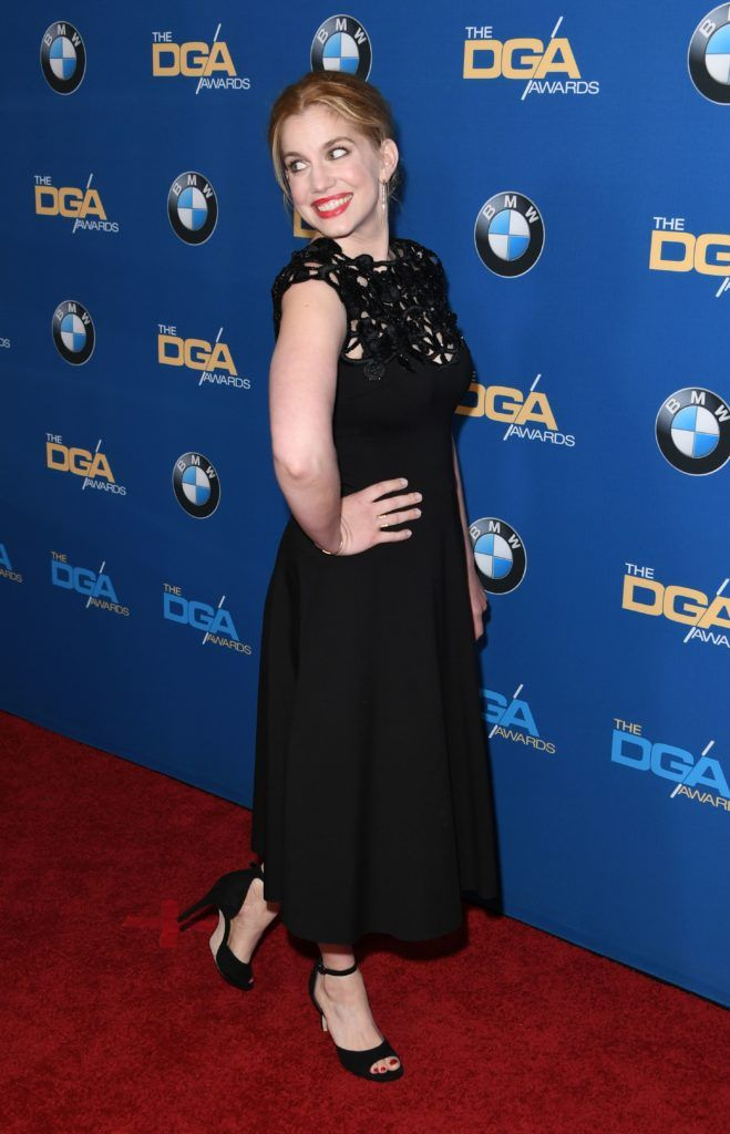 Actress Anna Chlumsky arrives for the 69th Annual Directors Guild Awards (DGA), February 4, 2017 in Beverly Hills, California. (Photo MARK RALSTON/AFP/Getty Images)
