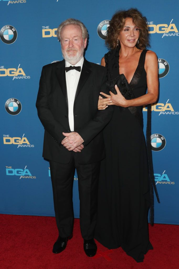 Director Sir Ridley Scott (L) and Giannina Facio attend the 69th Annual Directors Guild of America Awards at The Beverly Hilton Hotel on February 4, 2017 in Beverly Hills, California.  (Photo by Frederick M. Brown/Getty Images)