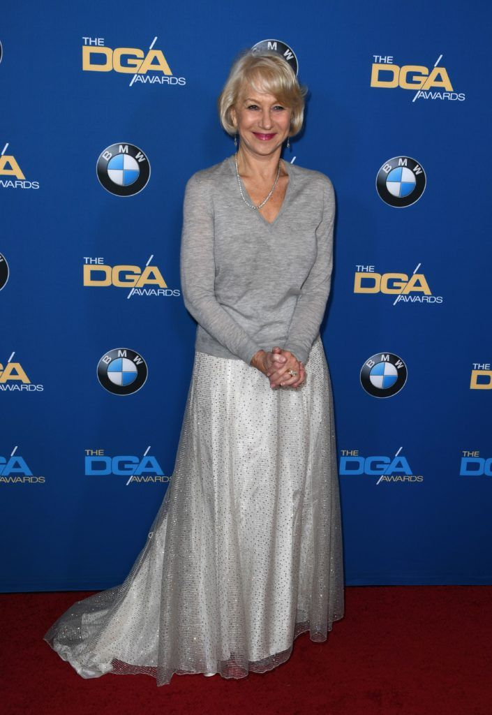 Helen Mirren arrives for the 69th Annual Directors Guild Awards (DGA), February 4, 2017 in Beverly Hills, California. (Photo MARK RALSTON/AFP/Getty Images)